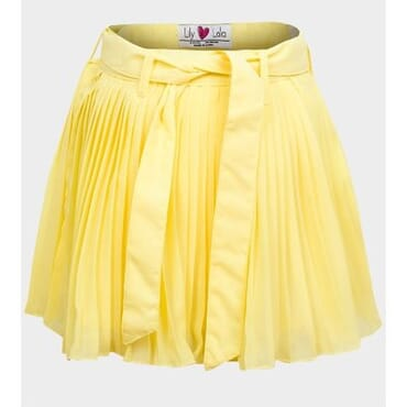 Lily Lola Girls Chiffon Pleated Skirt