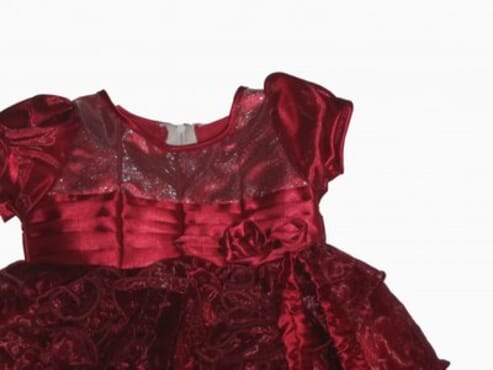 Baby Satin Party Dress - Red