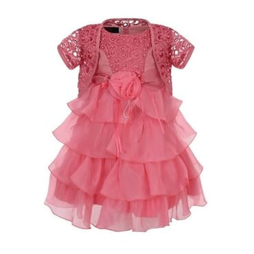 Baby Girls' Layered Dress with Bolero
