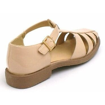 Krush Chopout Detailed T-Bar Crepe Sole Palm Sandal~ Node Patent