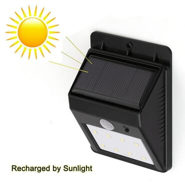 12 Led Waterproof Solar Power Motion Sensor Security Light