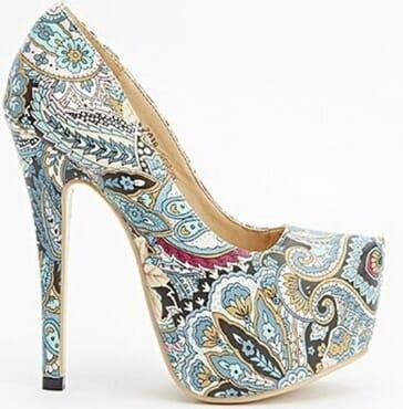 Sergio Todzi Paisley Print Platform Heels - Blue