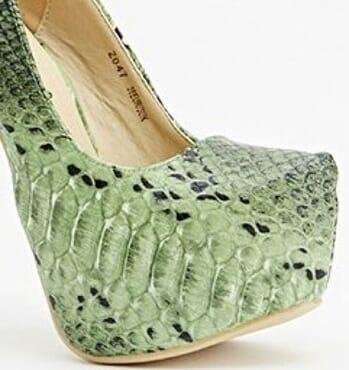 Sergio Todzi Textured Contrast Mock Croc Platforms