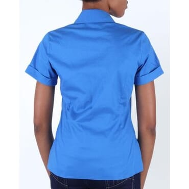 Stripped Short Sleeve Shirt - Blue