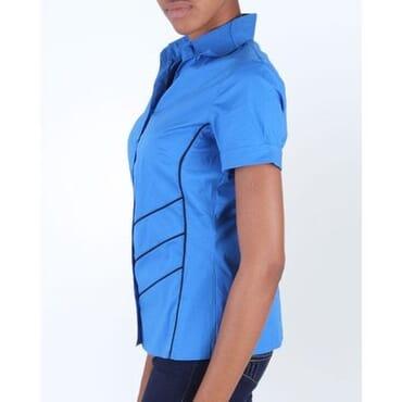Stripped Short Sleeve Shirt - Blue