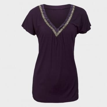 M&S Ladies Beaded Top - Purple