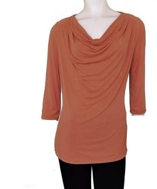 Per Una Crop Neck Blouse - Brown