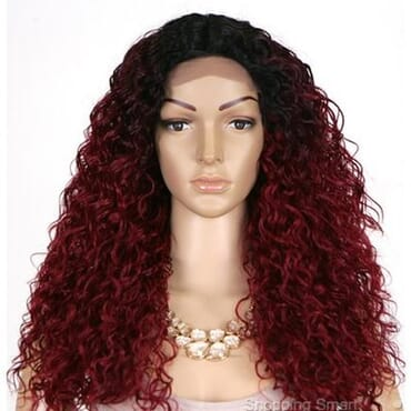 Sensationnel Empress Custom Lace Front Wig Italian Curl-1B Burgundy