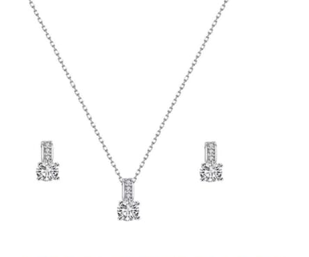 Swarovski 18k White Gold Plated with Crystals