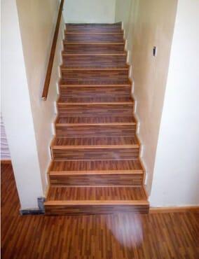Laminate wooden Floor    (Colorful Stripe Dark (CSD))