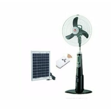 Original Andrakk Rechargeable Fan with Solar Panel - 18 inches Blades
