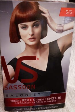 VS Sasoon salonist hair dye (medium reddish brown)