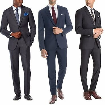 Men's Corporate Suit Set - Black, Blue & Grey