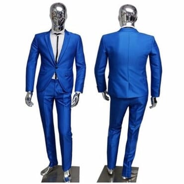 Smart Royal Blue Suit for Men's