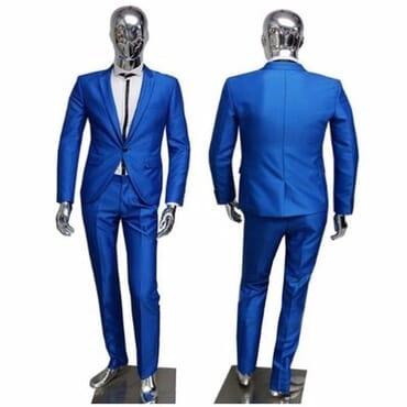 Smart Royal Blue Suit for Men's
