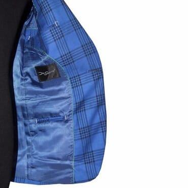 Smart Men's Formal Check Blazer - Blue