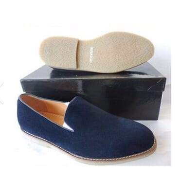 Classic Suede Loafers - Blue + Free Socks