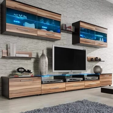 Esy TV Stand Entertainment Center (Wenge/Nut Baltimor)