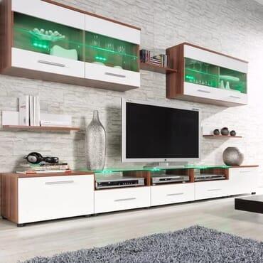 Esy TV Stand Entertainment Center (Plum/ White)