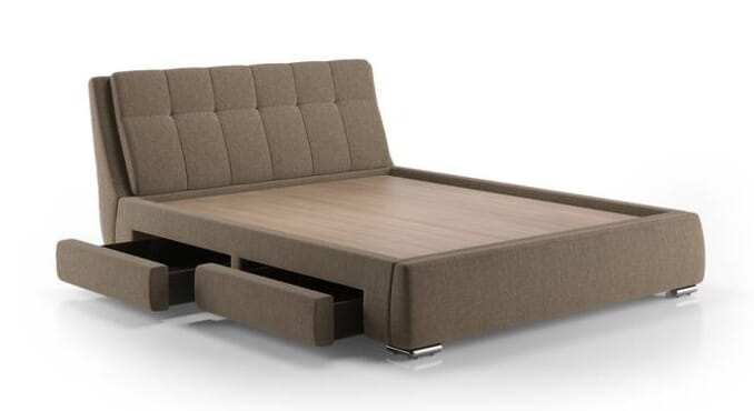 Easylife Esisi Upholstered Storage Bed Mist Brown