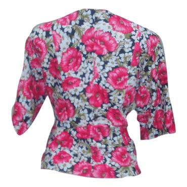 Plus Size Multicolor Floral Jacket