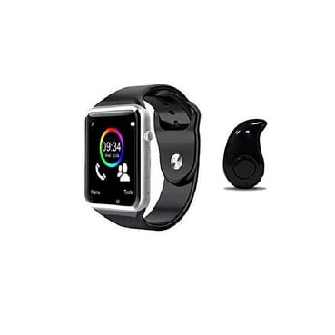 Universal Bluetooth Smart Watch, Phone Mate For: Android, IOS (iPhones) With Mini Bluetooth Earpiece