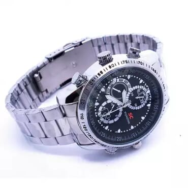 Spy chain wrist watch camera