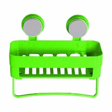 Plastic Bathroom Storage Basket - Green