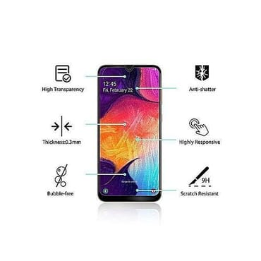 9h Glass Samsung A50 Tempered Glass Screen Protector