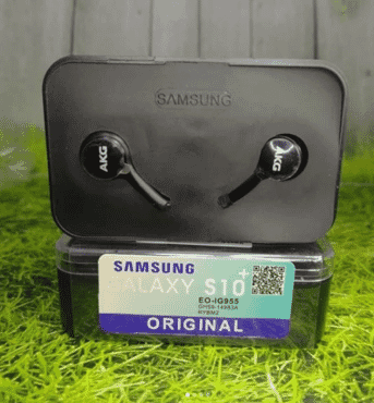 Handsfree Samsung S10 + AKG Box EO-IG955 Black Stereo Earphone Headset
