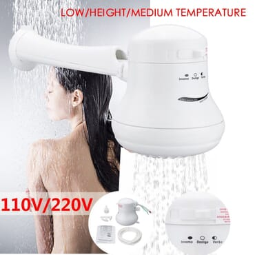 5400W 220V Electric Bathroom Shower Head Tankless Instant Hot Water Heater