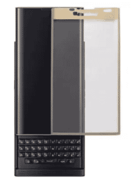 BlackBerry Priv - Black + Back Case & Glass Screen Protector