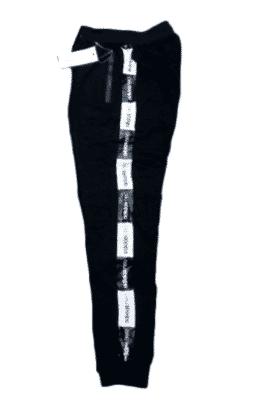 Designed Black Joggers