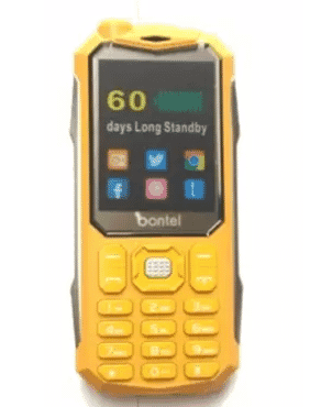 bontel 8100 Phone - 3000mah - Gold