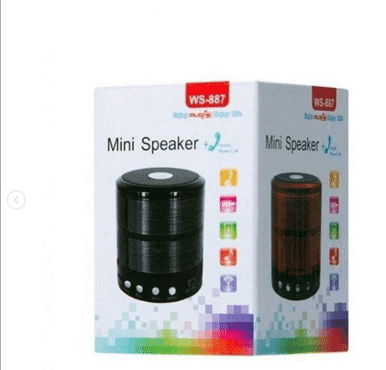 WS-887 Wireless Bluetooth Speaker Portable Subwoofer Sound box Mini Speaker