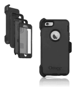Otter Box Defender Cover Case & Holster Belt Clip for iPhone 6 Plus & 6S Plus - Black