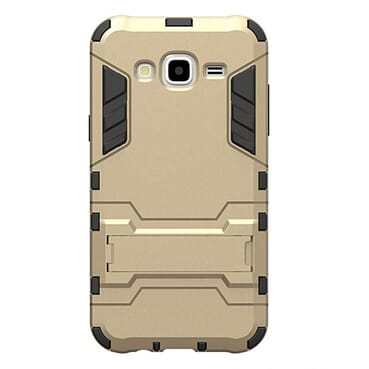 Generic J7 Tough Armor Protection Rugged Case With Kick-Stand Feature - Gold