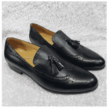 Italian Men's Brogues Tassel Loafer + A Free Happy Socks