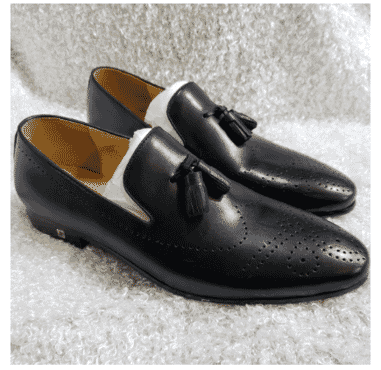 Smooth Men's Brogues Toe Tassel Loafer + A Free Happy Socks