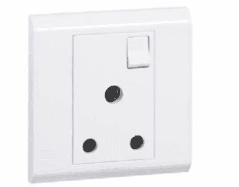 Legrand BS Socket Outlet - 1 Gang SP Switched - 5 A - 250 V~ - 617054