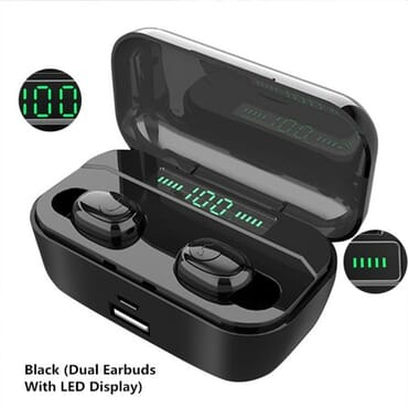 bluetooth 5.0 TWS Wireless Earbuds, 8D Headphone Headphones Sport Earphones In-Ear Headsets Binaural with Charging Cable for iPhone & Samsung Android Phones