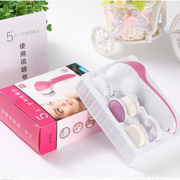 Multifunctional 5 in 1 Electric Mini Beauty Face and Skin Care Deep Clean Scrubber Machine Set