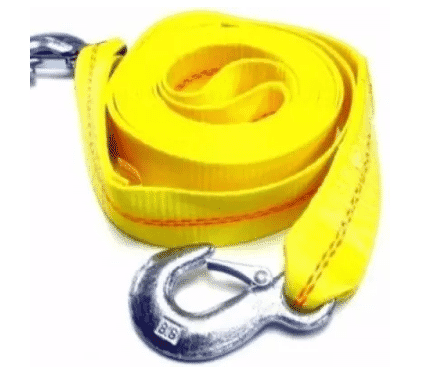 Car Towing Strap - Yellow