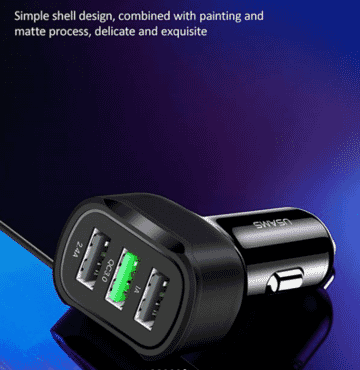 US-CC100 C17 3 USB Car Charger