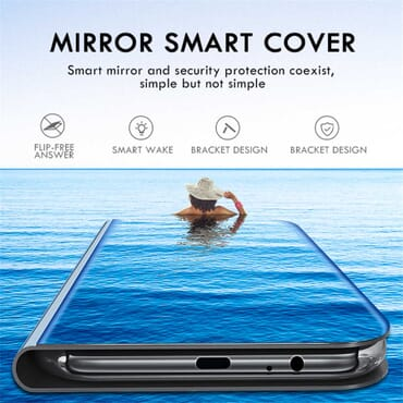 Case For Huawei Honor 8S 7S 7C 7A Pro Flip Book Case On Honor 7C 7A 7 S A C A7 C7 S7 S8 AUM-AL29 Smart Mirror View Case Cover