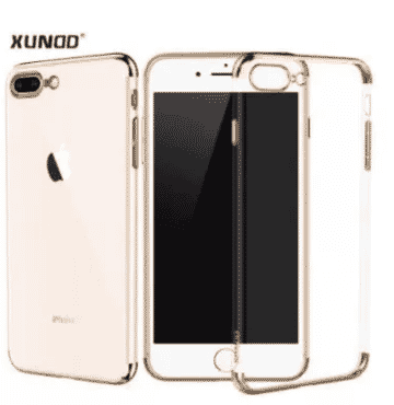 Xundd Transparent Protective Back Case For Samsung Galaxy A8 Plus 2018 - Gold