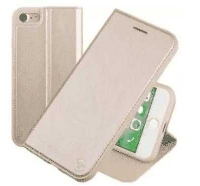 Case Flip Case For iPhone 7 Plus - Gold