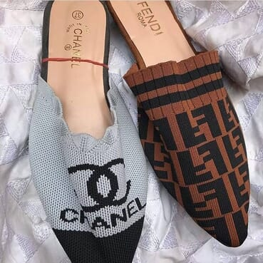 Fendi & Chanel Wool Women Slippers.