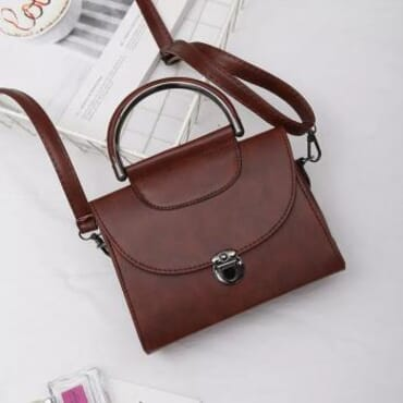 Crossbody Square Pu Leather Small Retro Handbag