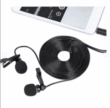 RecordLav II Professional Omnidirectional Microphone 400CM Clip On Lapel Mic for Smartphone